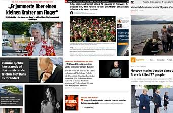 Slik dekker utenlandske medier ti-års markeringen