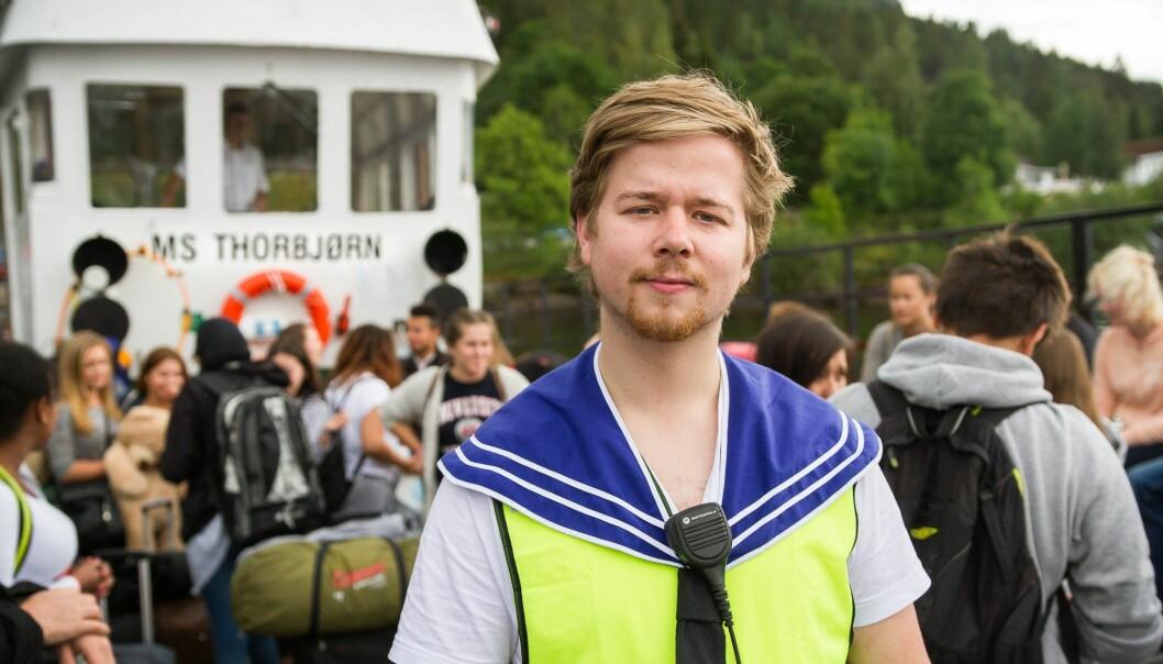 Johannes Dalen Giske på MS Thorbjørn