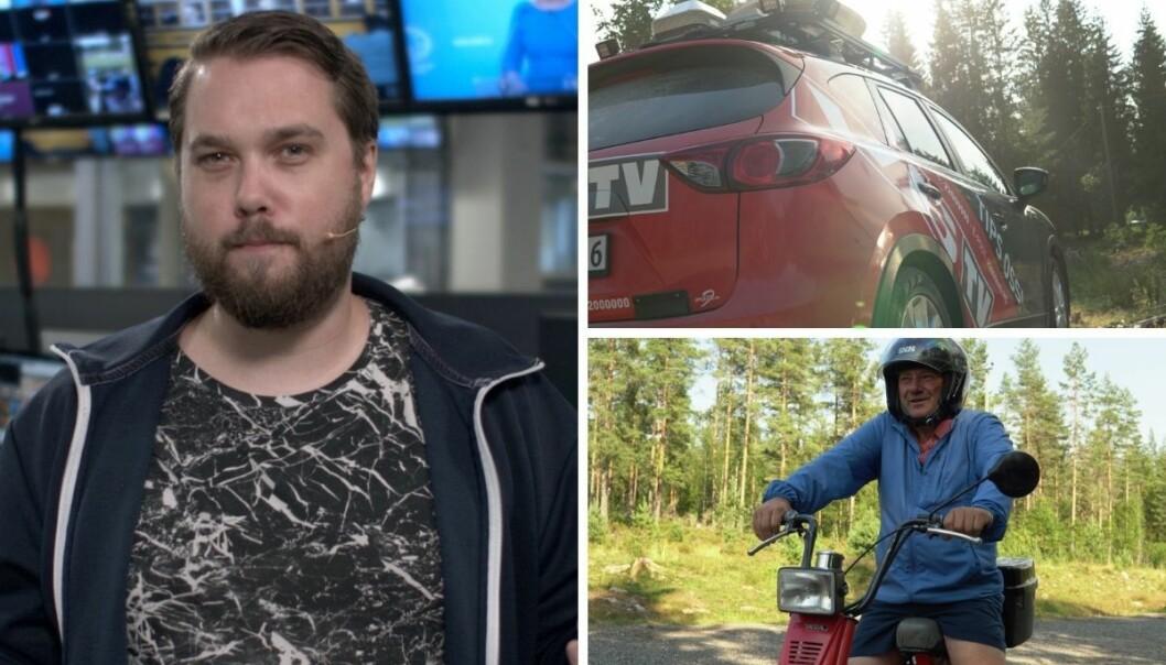 VG var ti timer ute i skogen søndag for å lete etter meteoritten. Der møtte til blant annet Roar Skjeggerud.