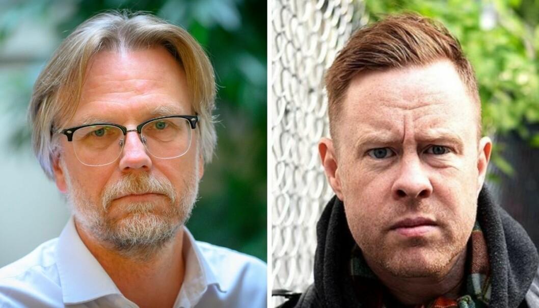 Nyhetssjef i NRK, Kyrre Nakkim og journalist i Filter Nyheter, Jonas Skybakmoen.