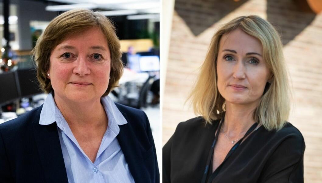 Ansvarlig redaktør i Sunnmørsposten, Hanna Relling Berg og sjefredaktør i Adresseavisen, Kirsti Husby.