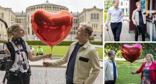 VGTV dro på date med partilederne: – Det å stille noe dype spørsmål hører også til på en date