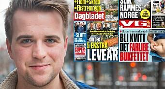 Kritiserer VGs og Dagbladets forsider: – Ser ut som at bukfettet er en større trussel enn klimaendringene
