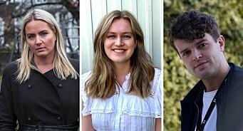 TV 2 Nyhetene ansetter Janne (38), Anna (23) og Lauritz (26)