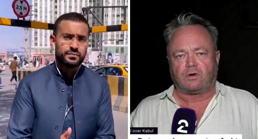 Utfordrende sikkerhetssituasjon for NRKs og TV 2s korrespondenter i Kabul: – En god del skyting akkurat nå