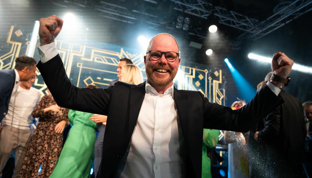 VG-sjef Gard Steiro slipper jubelen løs etter at de ble årets mediehus.