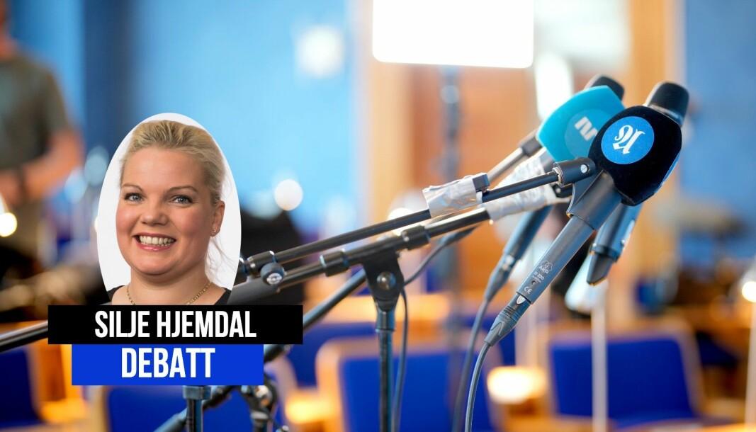 Stortingsrepresentant Silje Hjemdal mener det er flere utfordringer for norsk presse i dag.