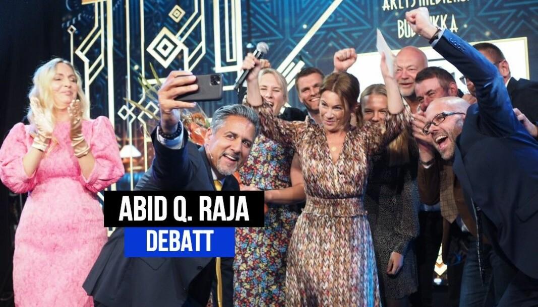Det var grunn til jubel for avisen Budstikka, da de vant prisen for «Årets Mediehus» i 2020.