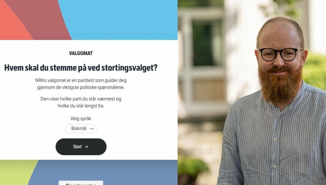 Hans Cosson-Eide med NRKs valgomat