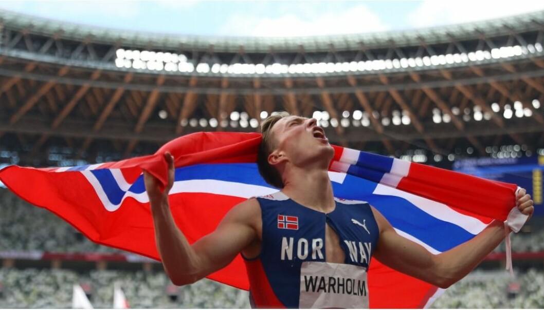 Karsten Warholm løp inn til OL-gull i Tokyo. Warholm og de andre utøverne trakk mange seere til rettighetshaver Discovery.