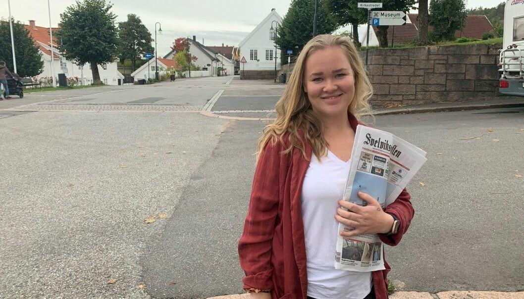 Ine-Elise Høiby blir journalist i Drammens Tidende.