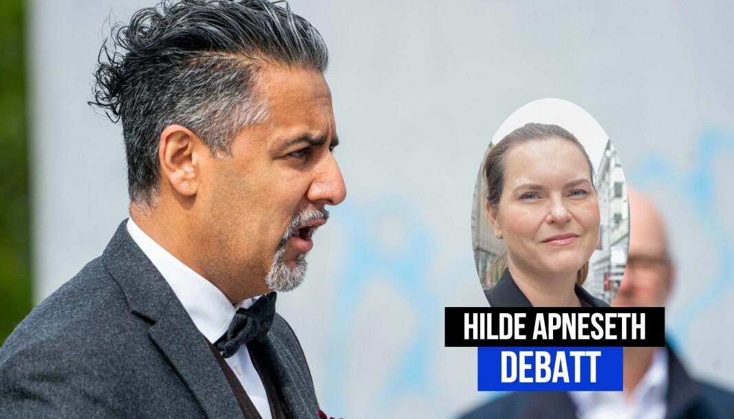 Radio Metros Hilde Apneseth kaller kultur- og likestillingsminister Abid Raja en politisk lettvekter.