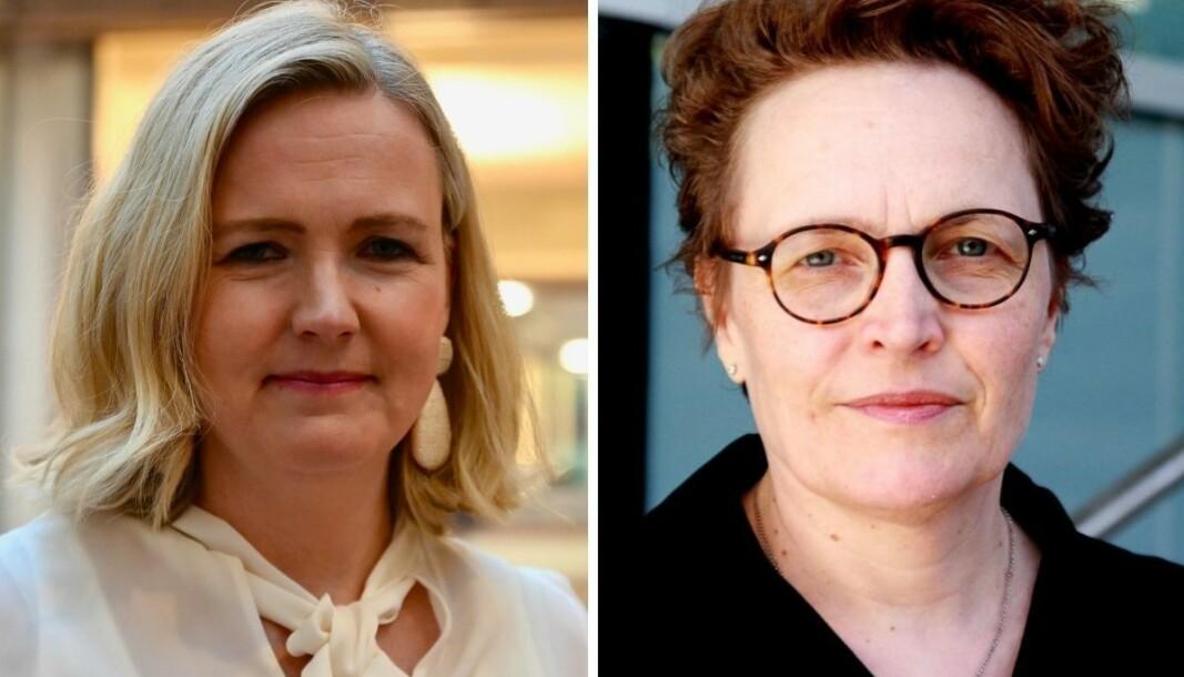 Kapital-redaktør Vibeke Holth og redaktør for metode og etikk i Dagens Næringsliv, Gry Egenes.