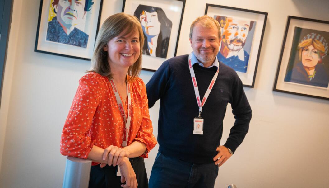 Ansvarlig redaktør Mari Skurdal og daglig leder Christian Samuelsen i Klassekampen