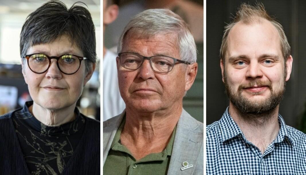 Vårt Land-redaktør Berit Aalborg, tidligere statsminister Kjell Magne Bondevik og Rødts stortingskandidat Mímir Kristjánsson reagerer alle på Dagbladets oppslag om KrF-leder Kjell Ingolf Ropstad.