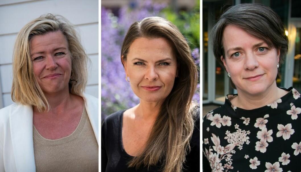 Nyhetsredaktør i Aftenposten, Tone Tveøy Strøm-Gundersen, stortingsrepresentant fra Krf, Jorunn Gleditsch Lossius og nyhetsredaktør Astrid Dalehaug Norheim i Dagen.