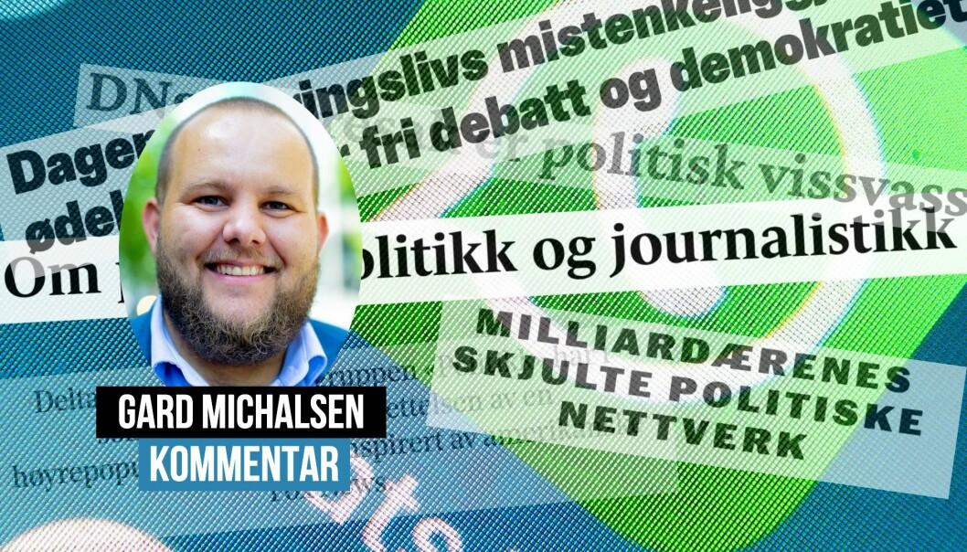 Gard Lehne Borch Michalsen lar seg ikke imponere av journalistikken rundt et nettverk på WhatsApp