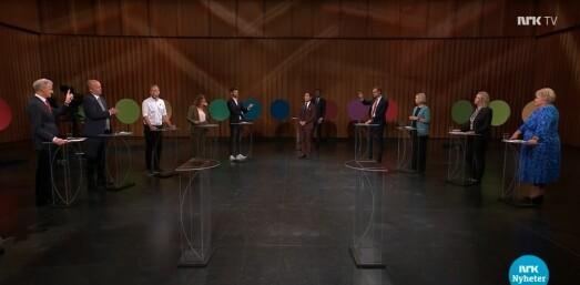 Så mange så den siste partilederdebatten