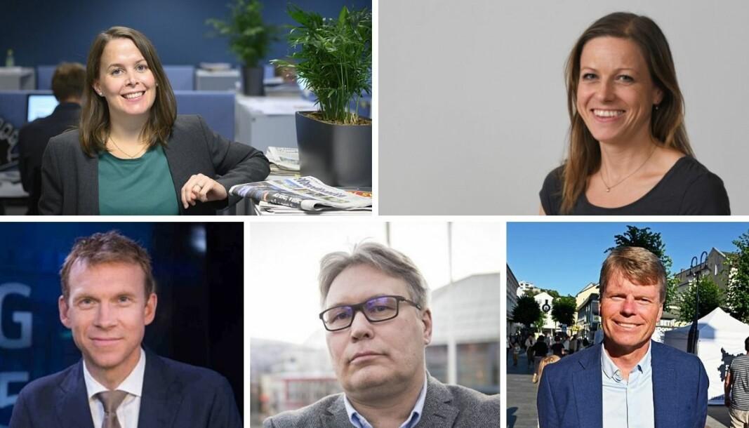 Siv Sandvik i Adresseavisen, Hilde Øvrebekk i Stavanger Aftenblad, Aslak Eriksrud i TV 2, Skjalg Fjellheim i Nordlys og Vidar Udjus i Fædrelandsvennen.