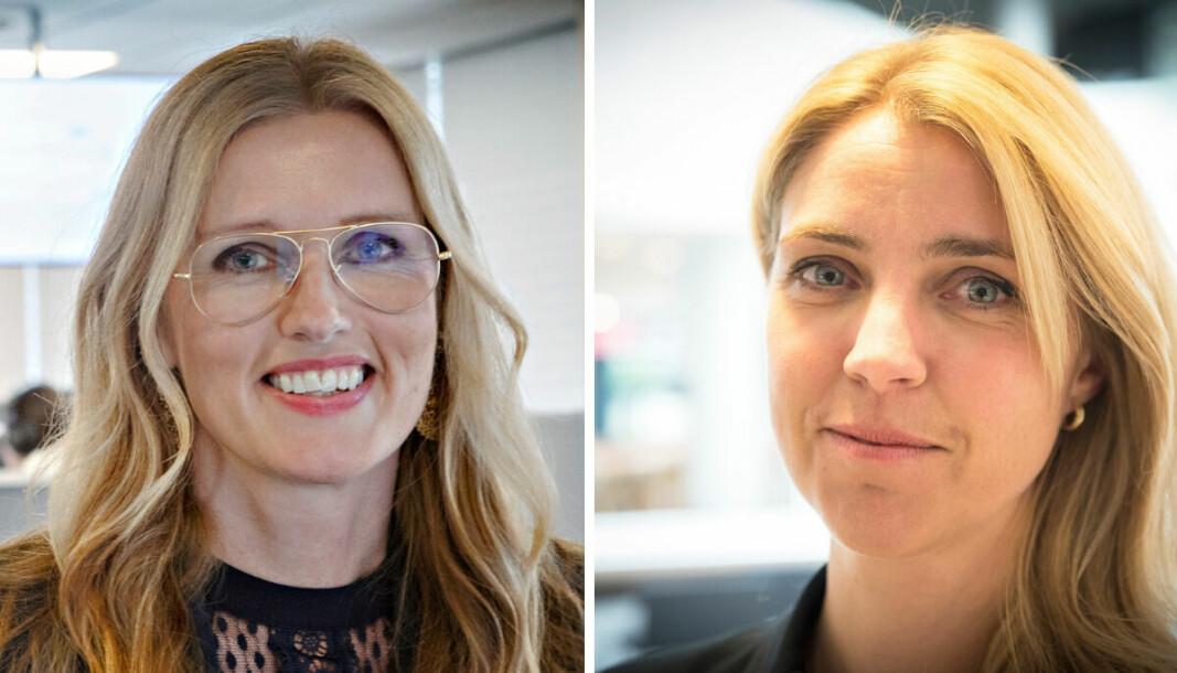 Redaktør i Dagbladet Pluss, Hilde Schjerve og ansvarlig redaktør og administrerende direktør i Dagbladet, Alexandra Beverfjord.