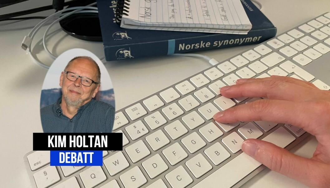 Som snakkende radiojournalist, vil Kim Holtan slå et slag for skrivende journalister.