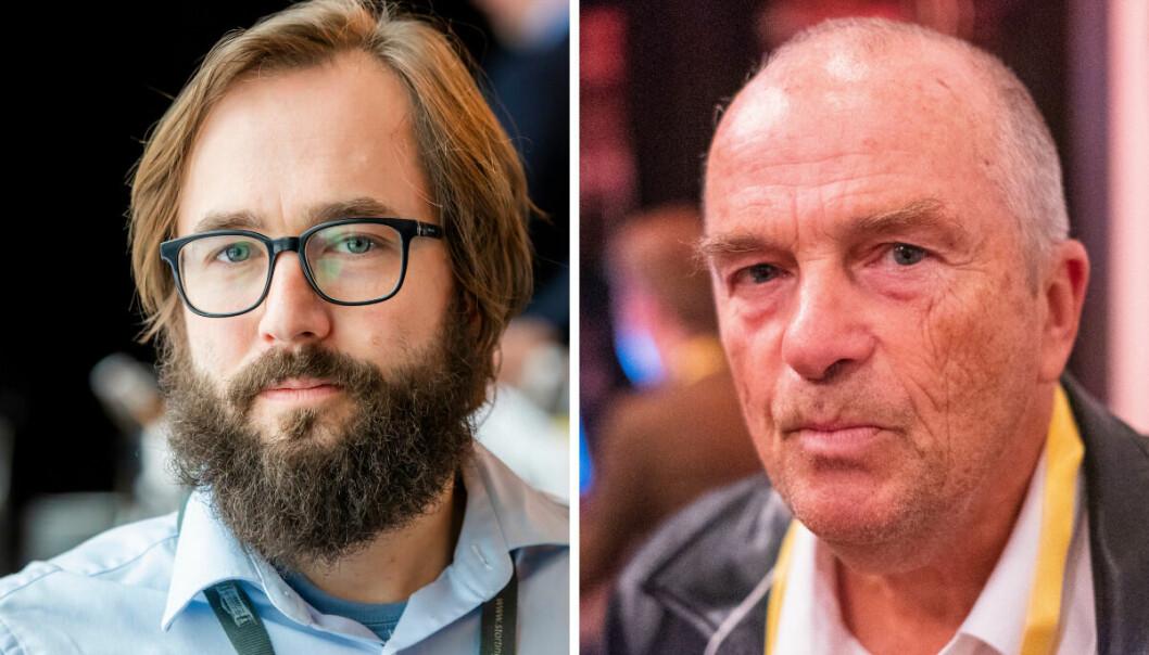 Harald S. Klungtveit, redaktør i Filter Nyheter og Hans Rustad, redaktør i Document.no.