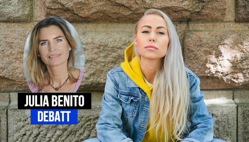Julia Benito kritiserer Aftenposten-journalist Ingeborg Senneset.