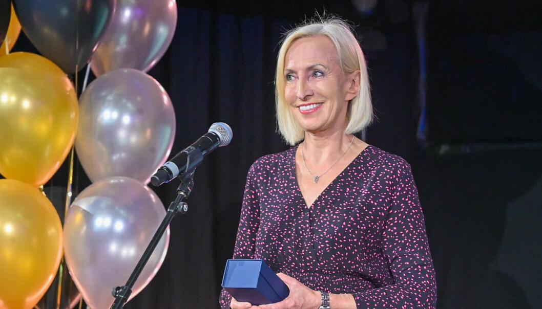 Karen Marie Ellefsen fikk én av to hederspriser under Norske Sportsjournalisters Forbunds prisutdeling i MCB.