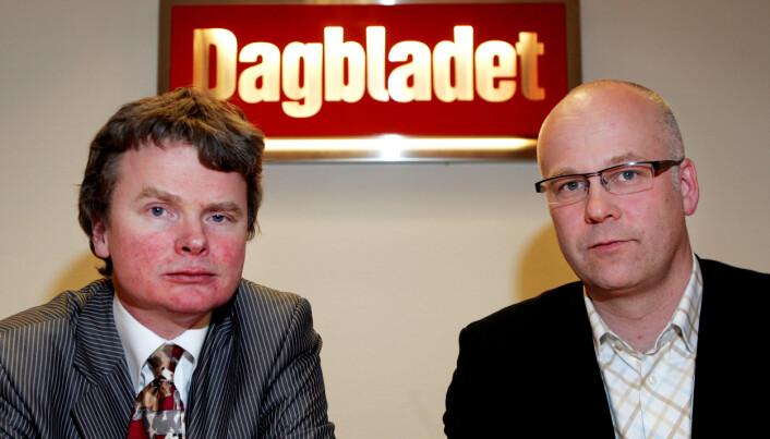 Lars Helle (til venstre) ble konstituert sjefredaktør i Dagbladet da Thor Gjermund Eriksen gikk av i 2006.