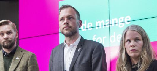 «Kjære Danmark: Vi prøvde» SV svarer på dansk forside med frekk annonse
