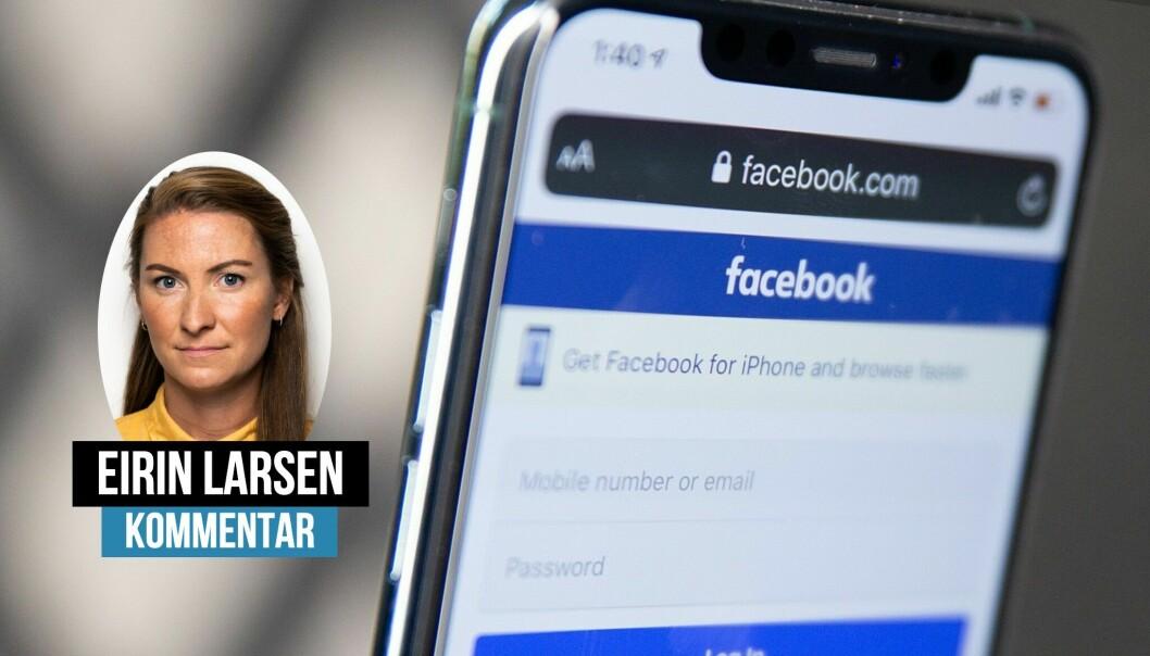 Eirin Larsen falt tilbake i gamle uvaner da Facebook var utilgjengelig