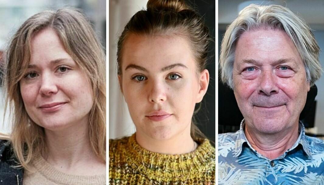 Vårt Lands Dana Wanounou, Dagsavisens Selma Moren og Nettavisens Erik Stephansen svarer på kritikken fra forfatter og skribent Gunnar Tjomlid.