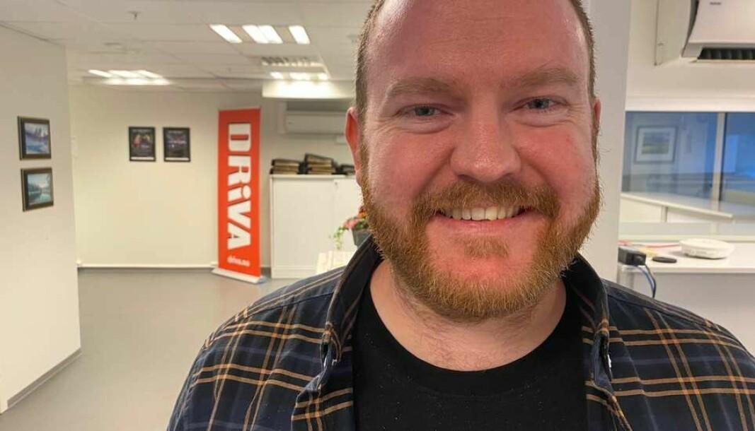 Øystein Hjelle Bondhus er Drivas nye redaksjonssjef.