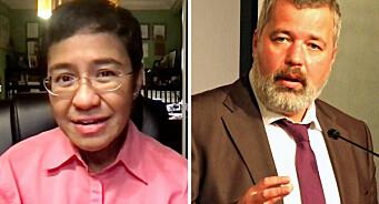 Journalistene Maria Ressa og Dmitrij Muratov får Nobels fredspris