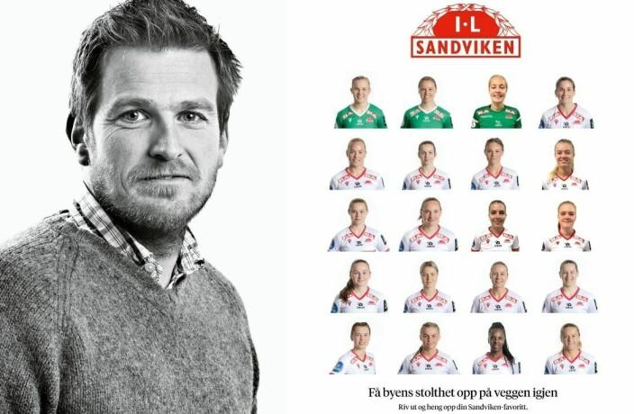 BT hedrer Sandviken-spillerne med dette bilde-stuntet