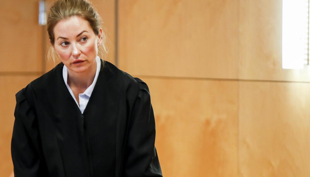 Ida Andenæs er Gaute Drevdals forsvarer. Her er hun avbildet da anken etter drapsdommen mot Janne Jemtlands ektemann ble behandlet i Eidsivating lagmannsrett 2019.