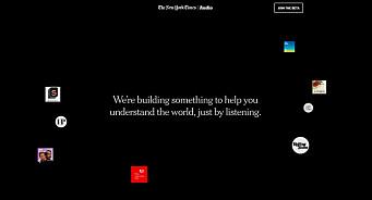 New York Times lanserer ny lydapp for å ta tilbake kontrollen fra algoritmestyrte plattformer