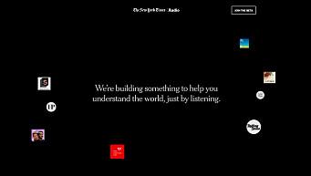 New York Times lanserer ny lydapp for å ta kontrollen fra tek-gigantene