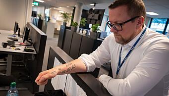 Når Atle starter en ny satsing i Adressa, følger det en tatovering med