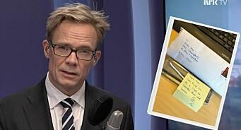 Seeren likte ikke NRK-profilens sveis - sendte spesiell gave i posten